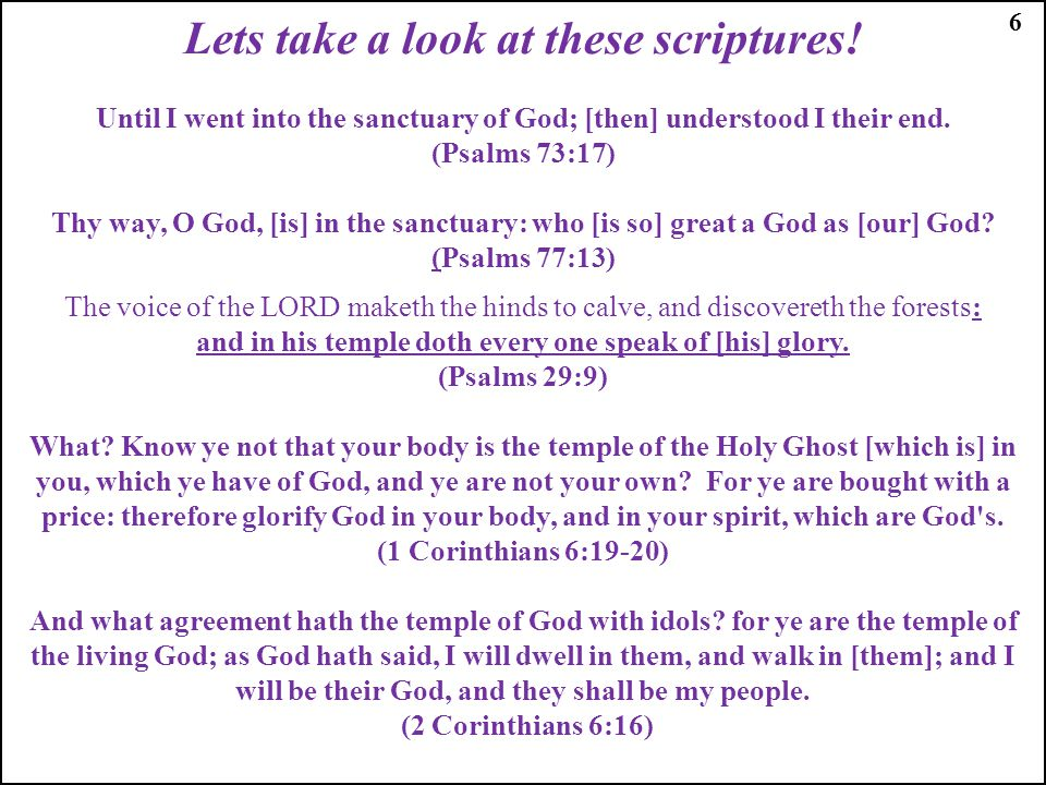 Lets take a look at these scriptures!