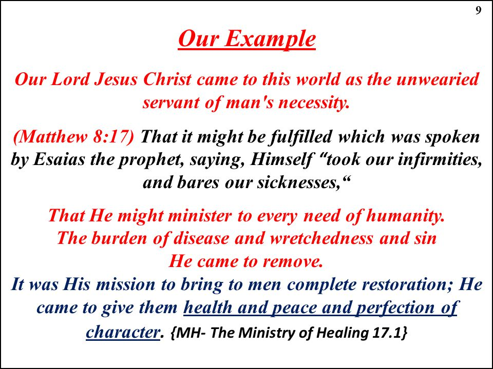 The burden of disease and wretchedness and sin