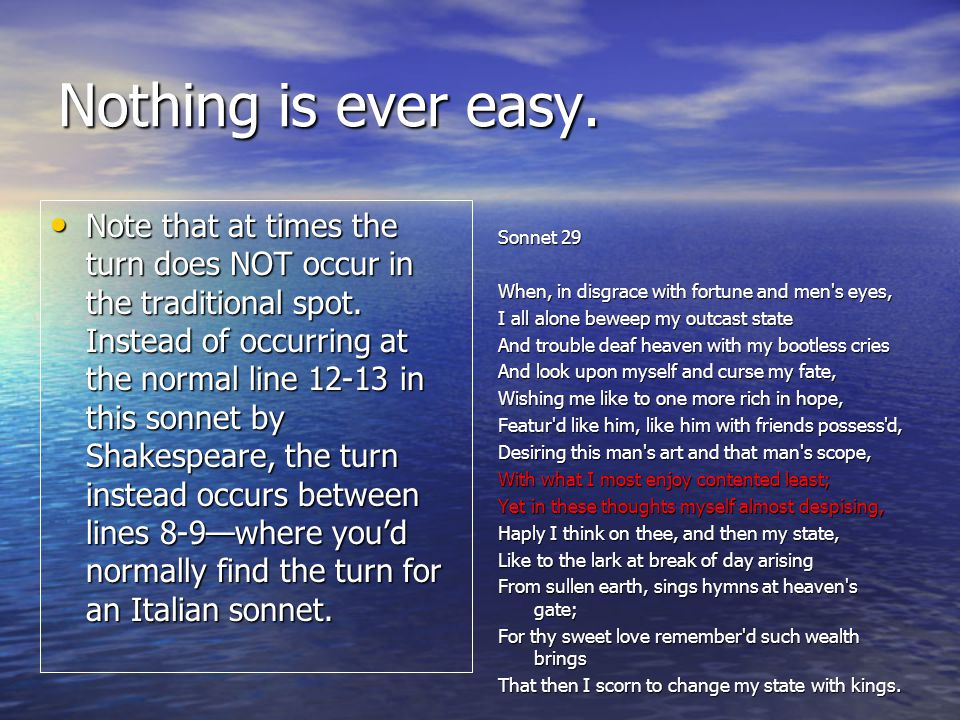 Nothing is ever easy.