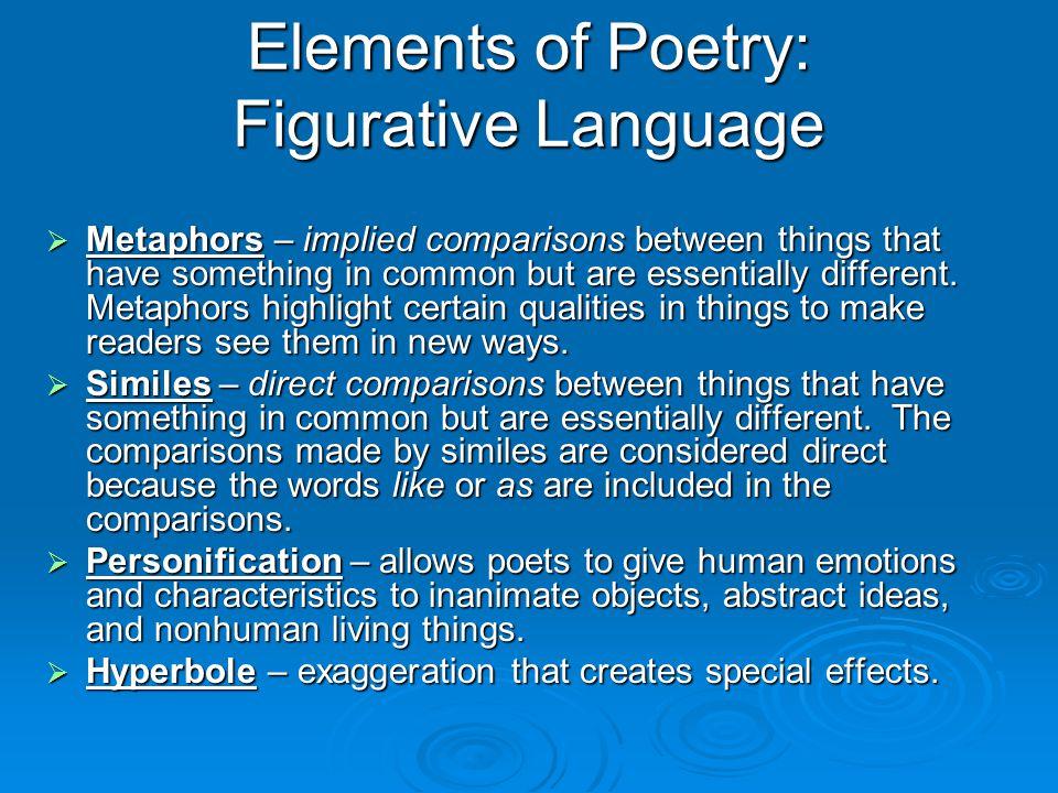 Elements of Poetry: Figurative Language