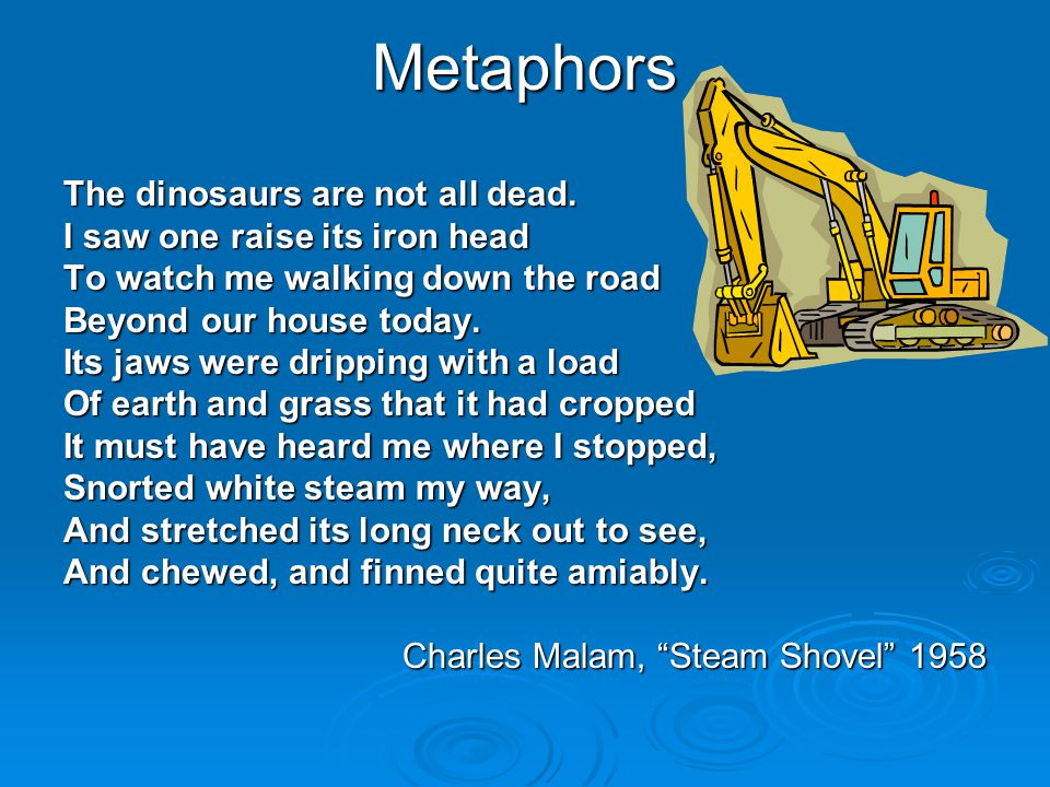 Metaphors The dinosaurs are not all dead.