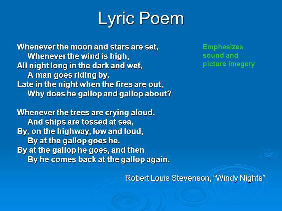 Lyric Poem Whenever the moon and stars are set,