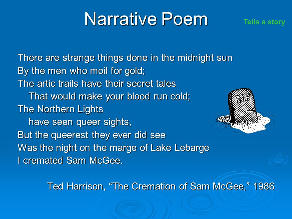 Narrative Poem There are strange things done in the midnight sun