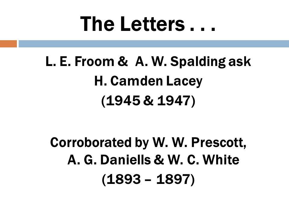 The Letters . . .