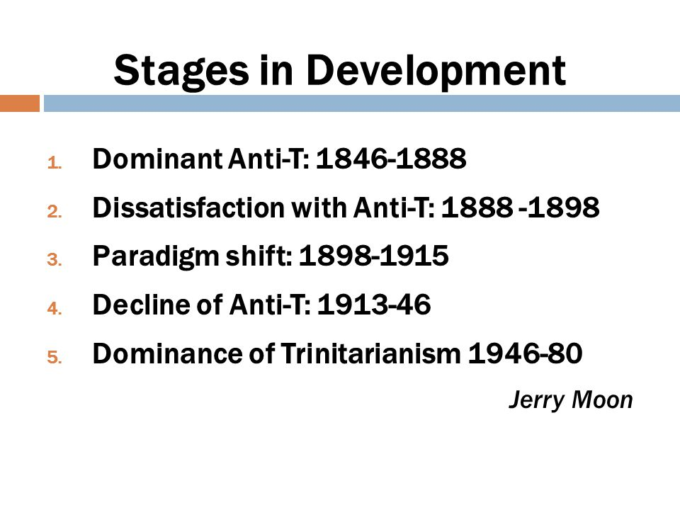Stages in Development Dominant Anti-T: 1846-1888