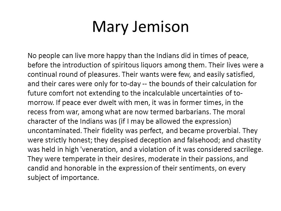 Mary Jemison