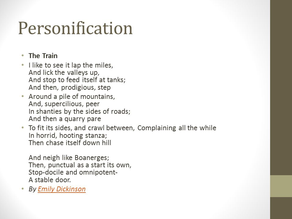 Personification The Train