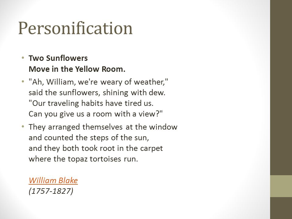 Personification Two Sunflowers Move in the Yellow Room.