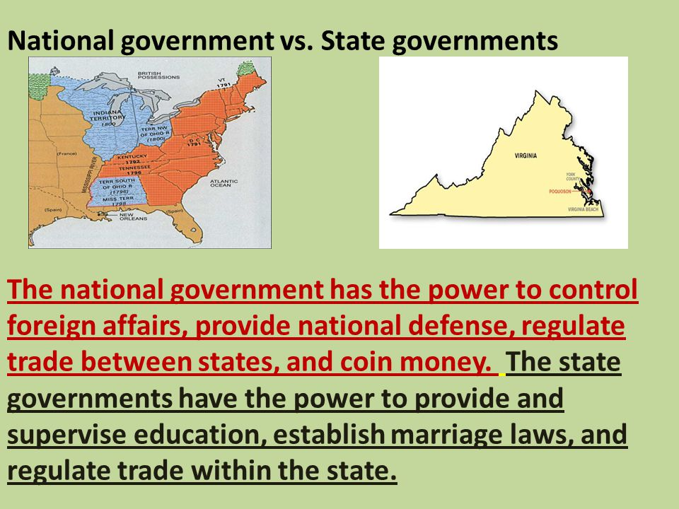 National government vs