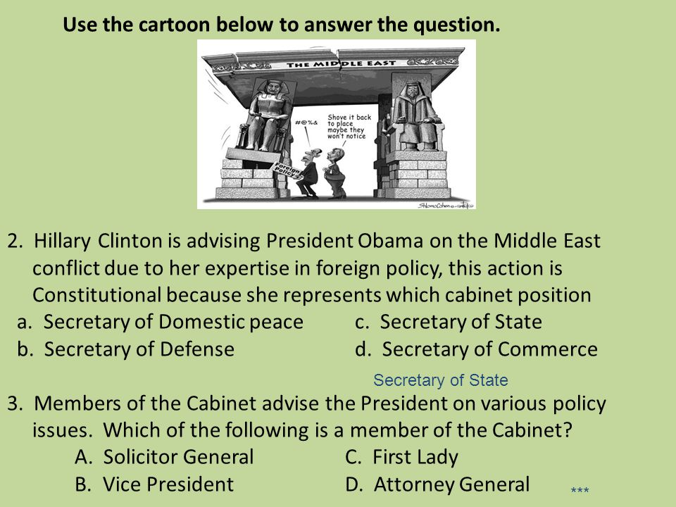Use the cartoon below to answer the question. 2