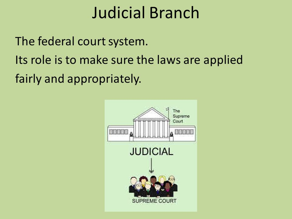 Judicial Branch The federal court system.