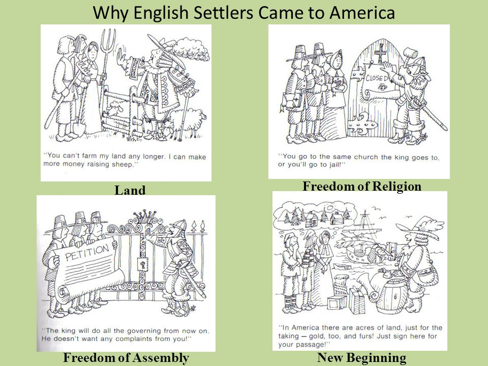 Why English Settlers Came to America