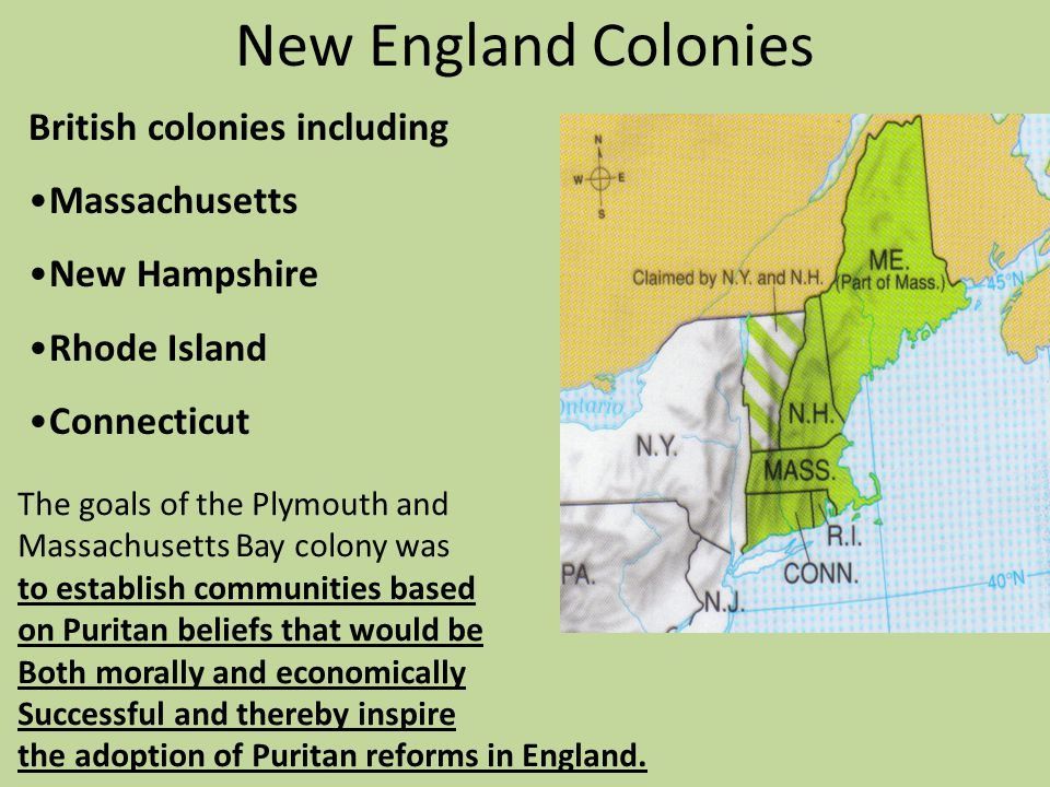 New England Colonies British colonies including Massachusetts