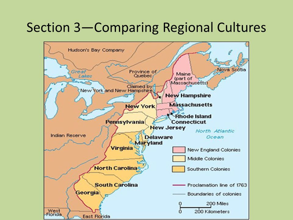 Section 3—Comparing Regional Cultures