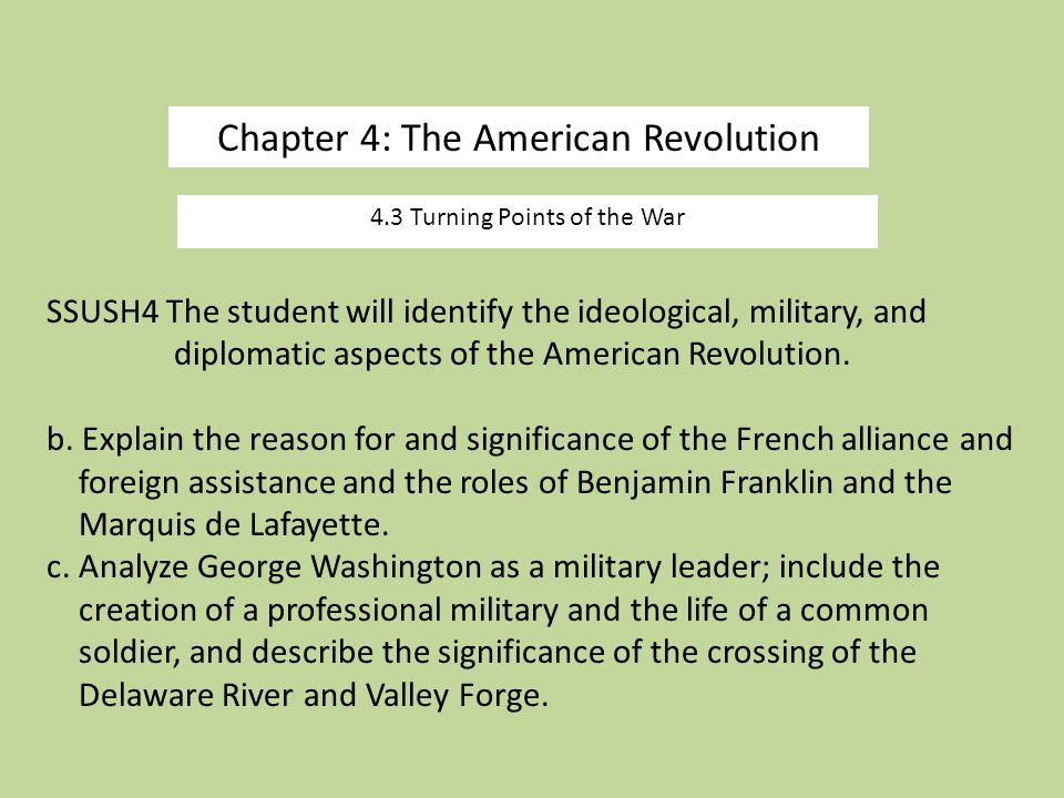 Chapter 4: The American Revolution