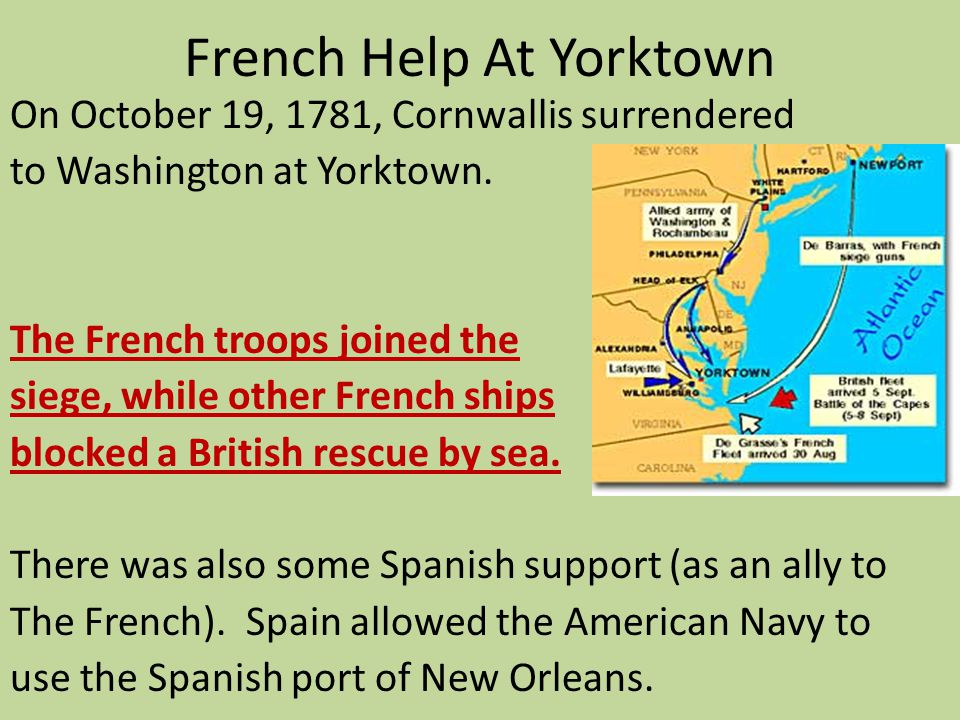 French Help At Yorktown