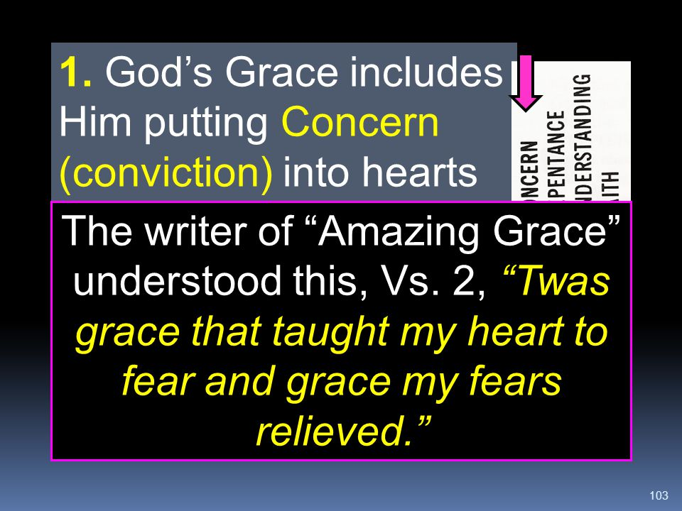 1. God's Grace includes Him putting Concern (conviction) into hearts of unsaved people.