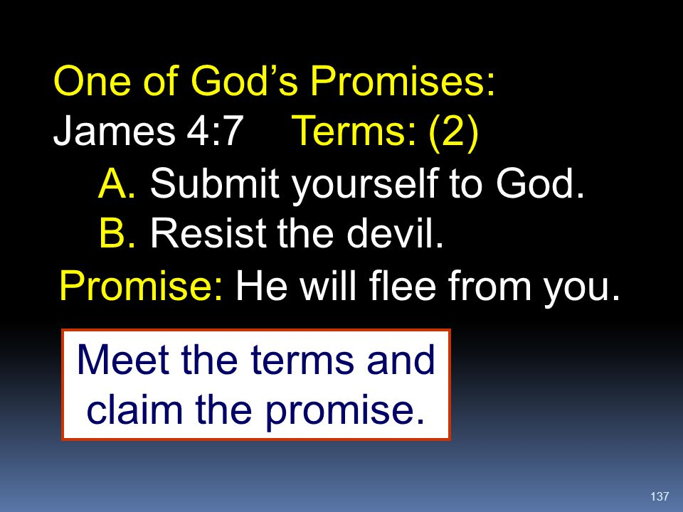Meet the terms and claim the promise.