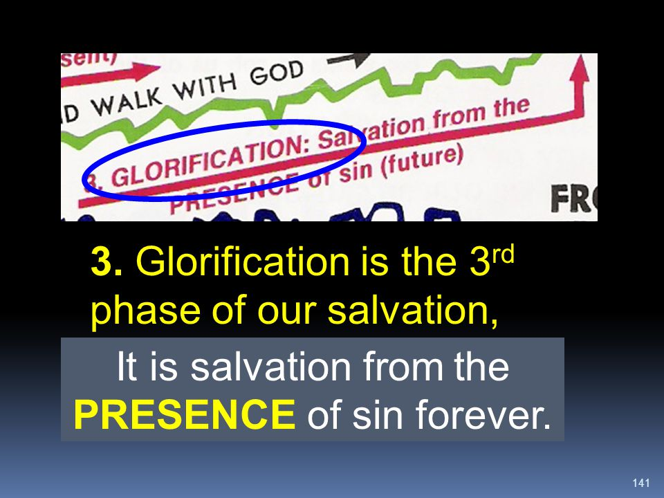 It is salvation from the PRESENCE of sin forever.
