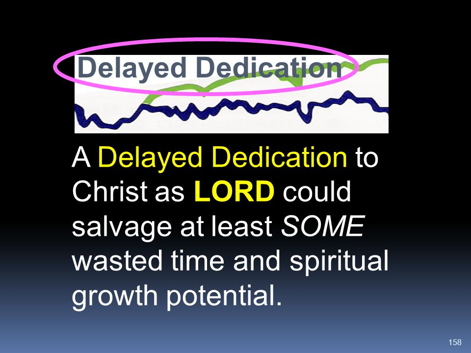 Delayed Dedication A Delayed Dedication to Christ as LORD could salvage at least SOME wasted time and spiritual growth potential.