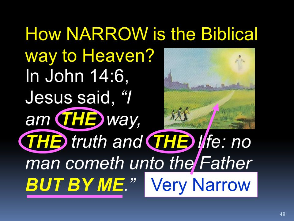 How NARROW is the Biblical way to Heaven