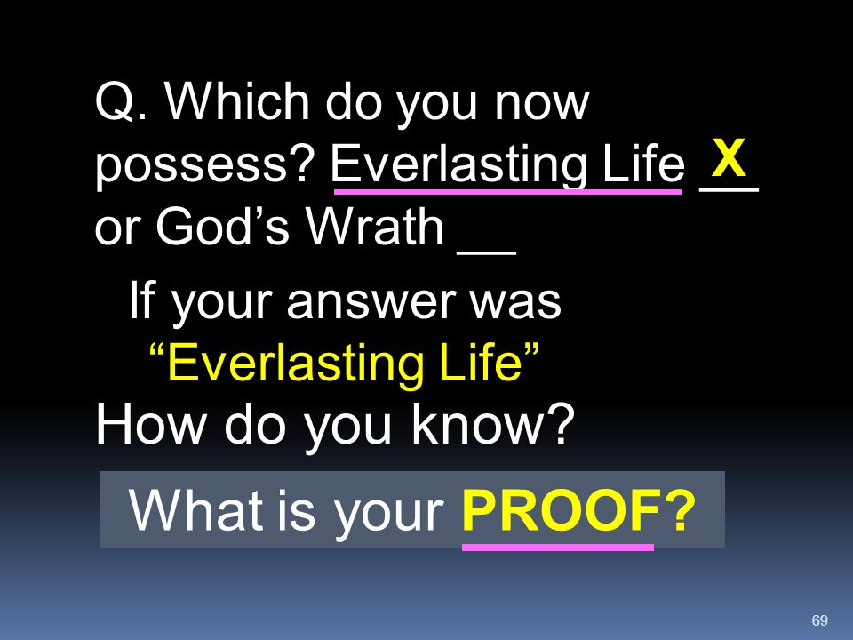 If your answer was Everlasting Life