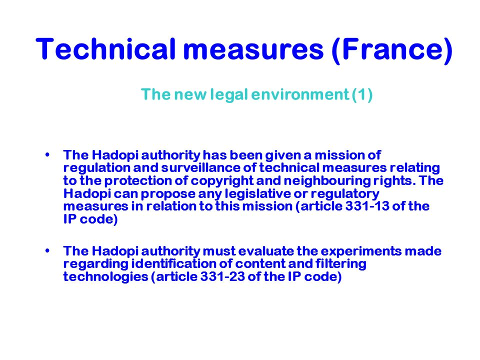 Technical measures (France)