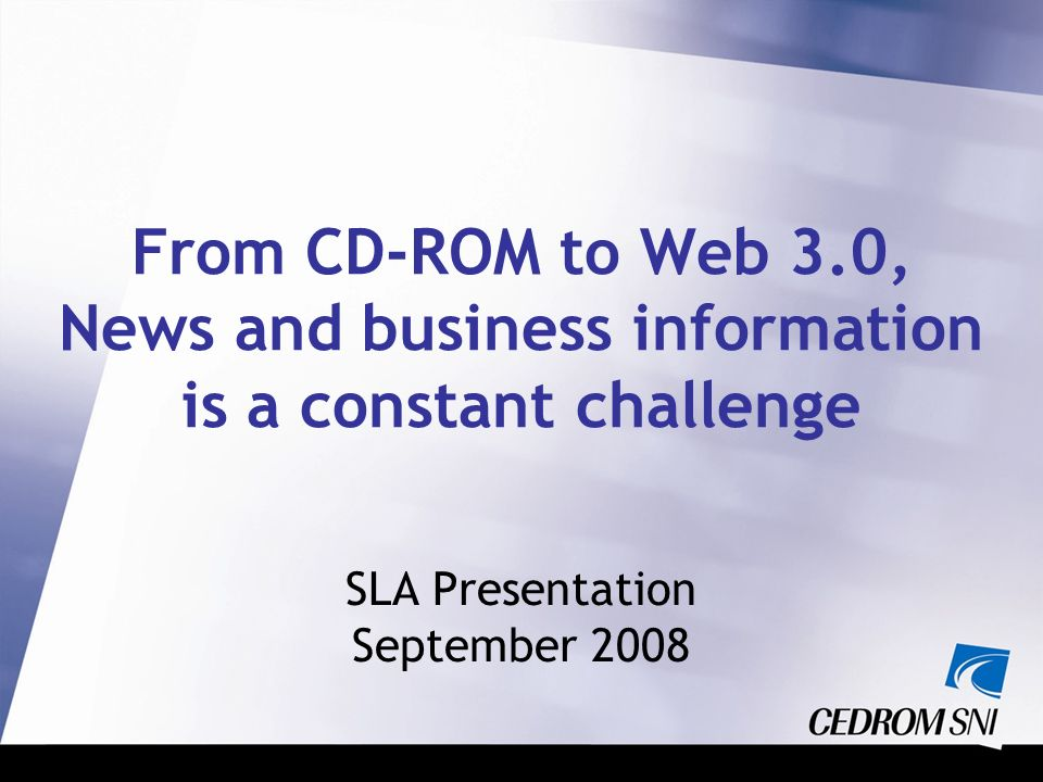 SLA Presentation September 2008