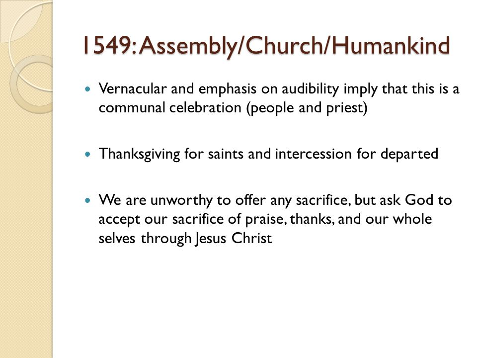 1549: Assembly/Church/Humankind