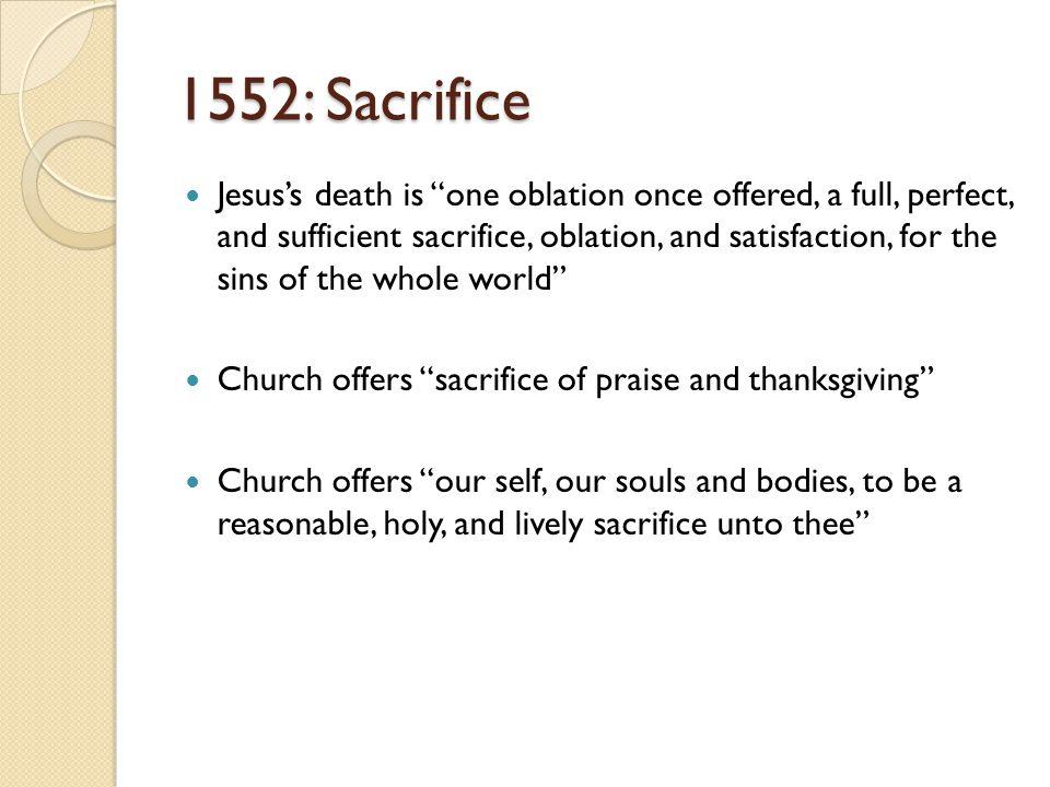 1552: Sacrifice