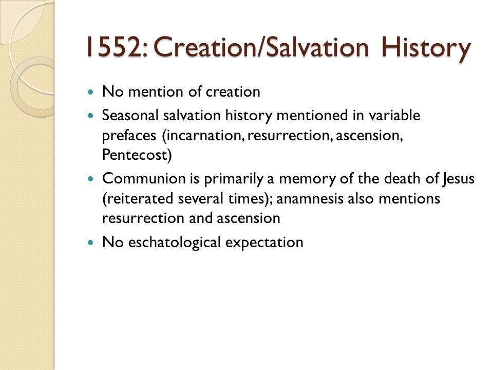 1552: Creation/Salvation History