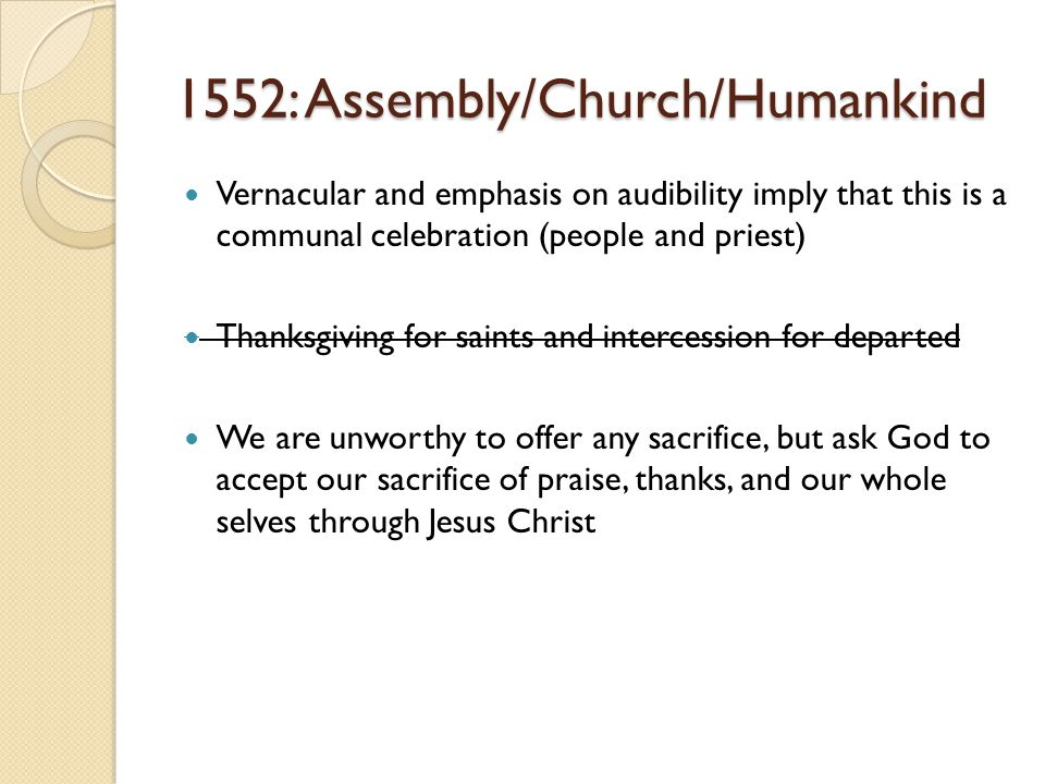 1552: Assembly/Church/Humankind
