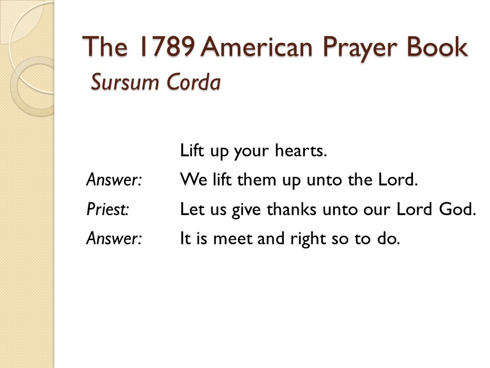 The 1789 American Prayer Book
