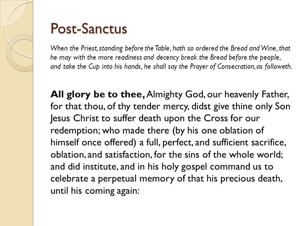 Post-Sanctus
