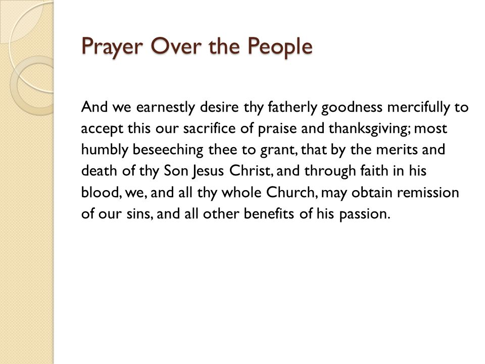 Prayer Over the People