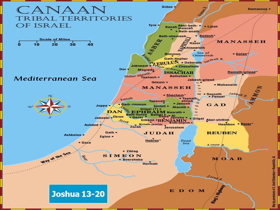 b Joshua 13-20