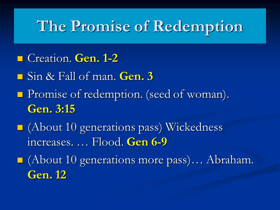 The Promise of Redemption