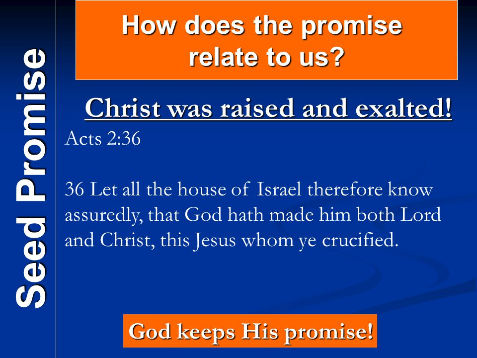 Christ was raised and exalted!