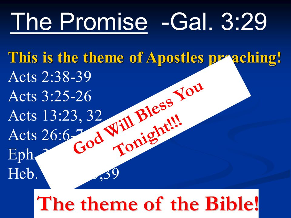 God Will Bless You Tonight!!!