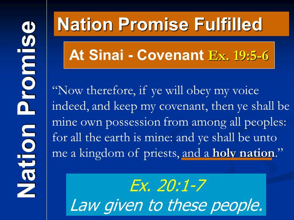 At Sinai - Covenant Ex. 19:5-6