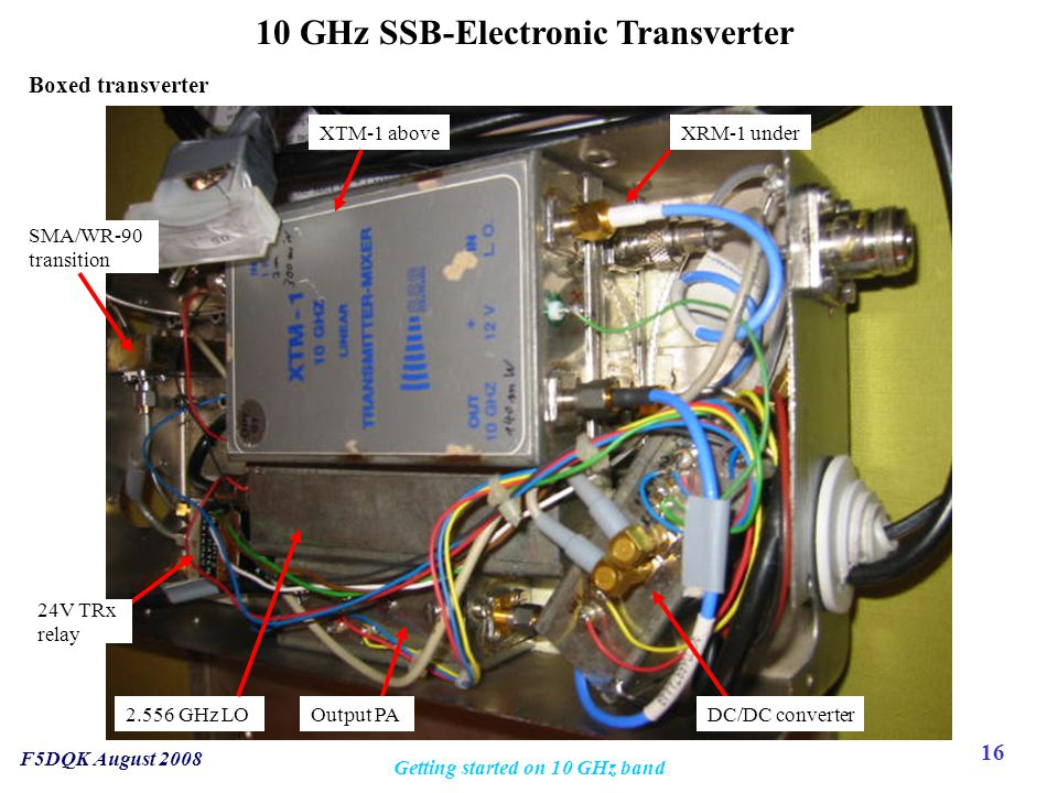 10 GHz SSB-Electronic Transverter Getting started on 10 GHz band