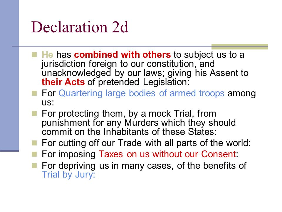 Declaration 2d