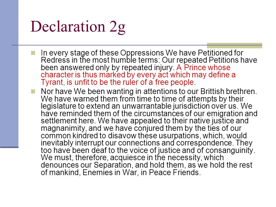Declaration 2g