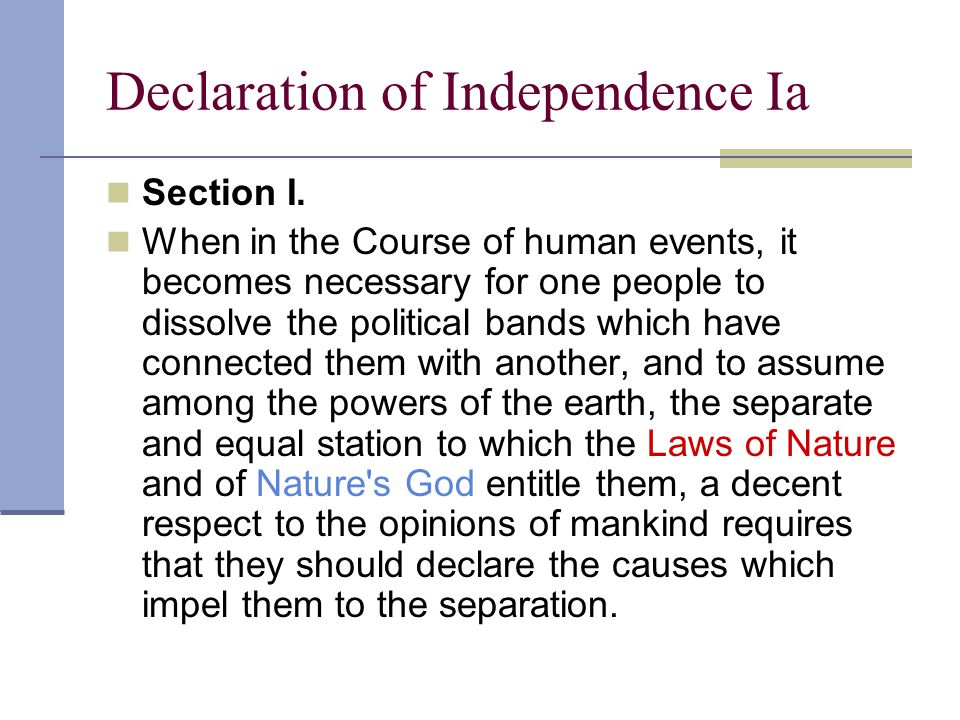 Declaration of Independence Ia