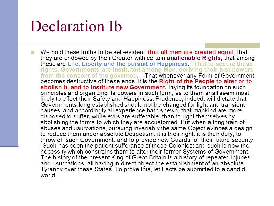 Declaration Ib