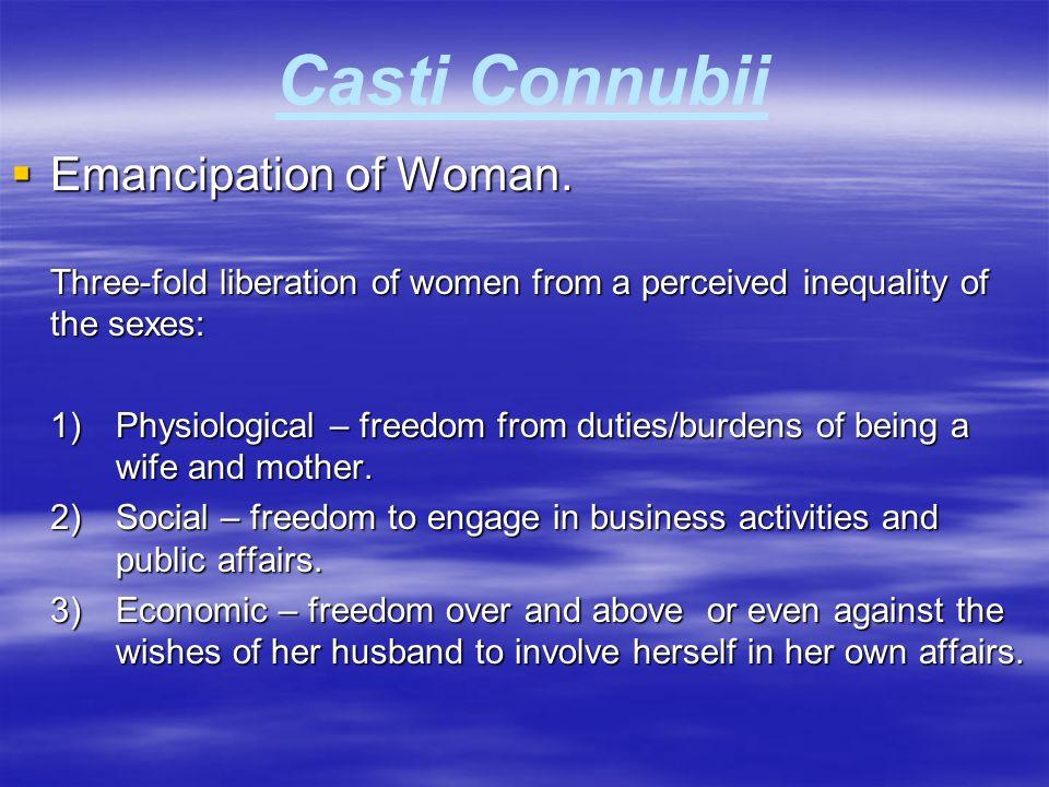 Casti Connubii Emancipation of Woman.