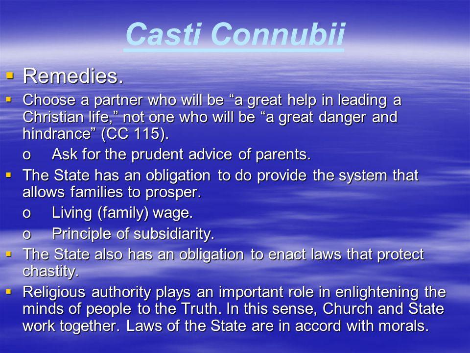 Casti Connubii Remedies.