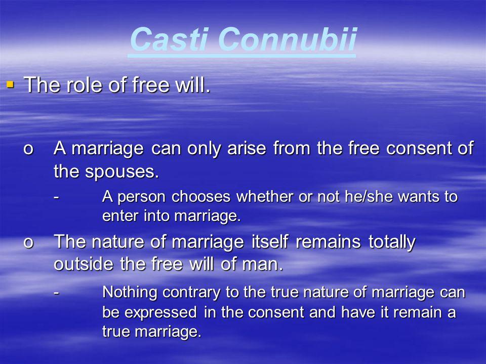 Casti Connubii The role of free will.