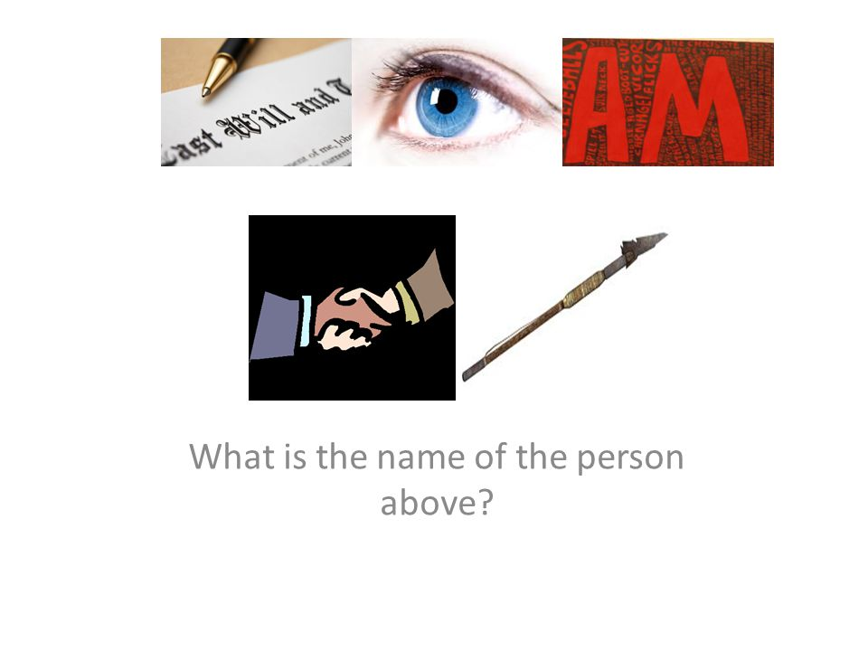 What is the name of the person above