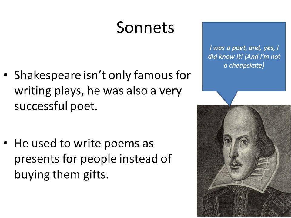 I was a poet, and, yes, I did know it! (And I'm not a cheapskate)